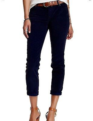 NWT $78, Free People Blue Women's Size 28 Cropped Skinny Corduroys Pants