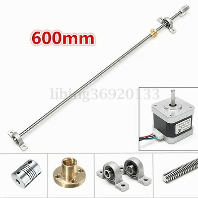 Linear Motion T8 600mm Stainless Steel Lead Screw+Copper Ball For Motor 3D print