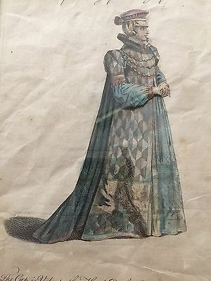 Print of fashionable Bavarian Dress from The early 1800's