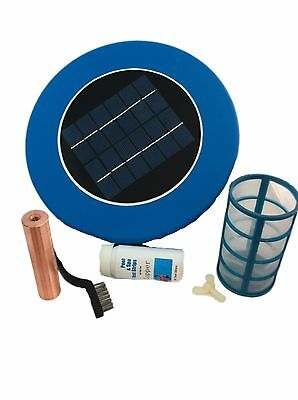 Solar Pool Purifier Ionizer Kill Algae Bacteria Reduce Chemicals Use in Pool