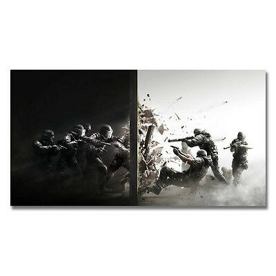 Rainbow Six PC Police Special Forces PC Game Art Silk Poster 13x24 32x60in J068