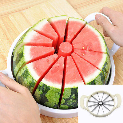 Stainless Melon Cutter Cantaloupe Watermelon Divider Kitchen Fruit Slicer Tool