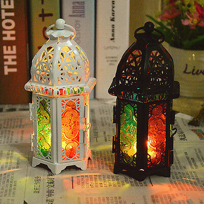 Hollow Retro Candle Holder Candlestick Hang Lantern Moroccan Cage Style Decor