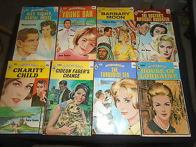Lot of 67 Harlequin Romance Paperbacks Red Edges 45 50 Cent Covers