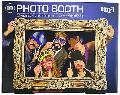 Box 51 Photo Booth Top Quality Props Attach Easily To Self Adhesive Brand New