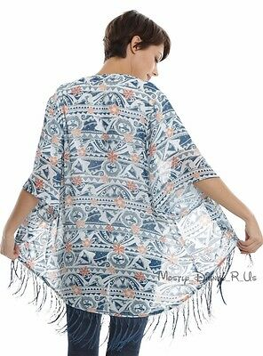 NEW Disney Moana Kimono Polynesian Shawl Wrap Cover Up Ladies Juniors XS