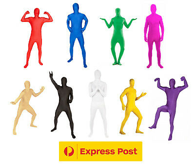 NEW! Morph Suits Full Bodysuit Spandex Lycra Suit Second Skin Sports Day Costume