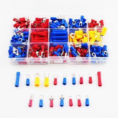 300Pcs 22-10 AWG Crimp Terminals Set Insulated Electrical Wiring Connector Kit