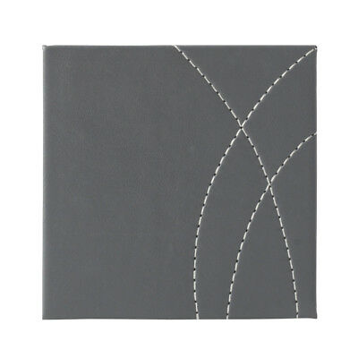 Creative Tops Coasters Pack 4 Stitched Faux Leather Grey