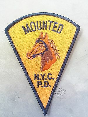 Stoffabzeichen Mounted NYC PD