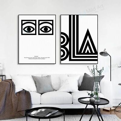 Black White Modern Abstract Birds Poster Nordic Home Decor Art Canvas Painting