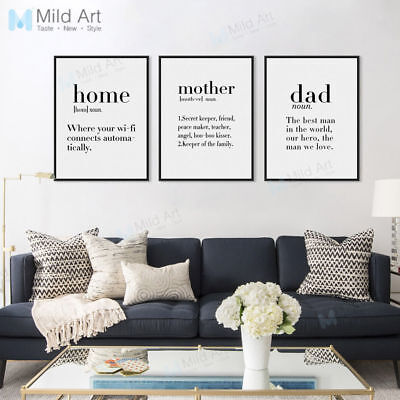 Mother Life Coffee Love Quotes Poster Nordic Home Decor Wall Art Canvas Painting