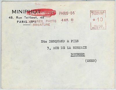 63221  - FRANCE - POSTAL HISTORY - RED MECHANICAL POSTMARK on COVER: PHOTOGRAPHY
