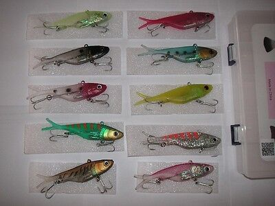 10 lures soft vibe 100mm quick catch quickcatch elite sim transam threadybuster