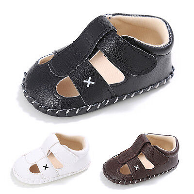 Toddler Newborn Infant Prewalker Leather Formal Shoes Baby Boys Crib First Shoes