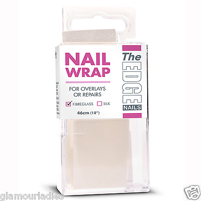 "THE EDGE NAILS 46cm (18"") Fibreglass Nail Wrap Strip for fibreglass Systems"