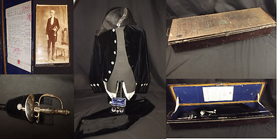 Early 20th Century Diplomatic Corps Court Dress Set