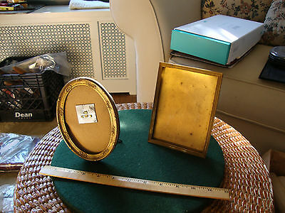"Two vintage brass picture frames 4 1/2"" X 6"" & 4 1/8"" X 3 3/4"""