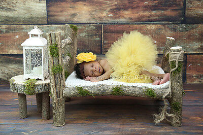 Newborn log  Night Stand Table stump baby photography prop wood hand made