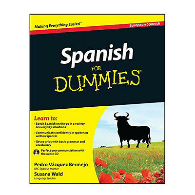 Spanish For Dummies By Wald, Susana And Bermejo Pedro Paperback Book