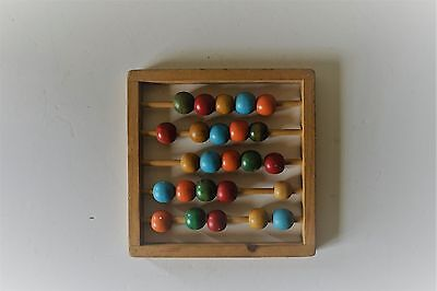 VTG Child's Abacus with 25 Colored Beads