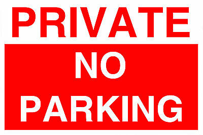 1 Private No Parking Plastic Sign Large Size 3 - 5mm PVC  Weatherproof FREEPOST