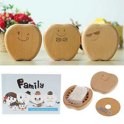Wooden Tooth Curl Box Apple Hair Save Lanugo Milk Tooth Box Tooth Album Set