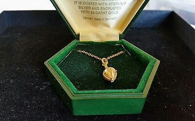 Vintage sterling silver and 24 ct gold pendant