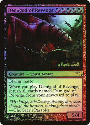 Demigod of Revenge FOIL PreRelease ~ Shadowmoor ~ Excellent+ ~ Magic