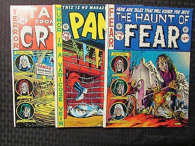 1987 EC CLASSICS #9 Haunt of Fear #10 Panic #11 Tales From the Crypt FN to FVF