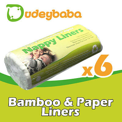 Large Flushable paper or bamboo nappy liners for cloth nappies -100 sheets/roll