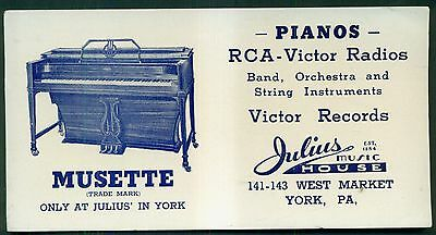 1930's Musette Pianos/RCA-Victor Radios/Victor Record Julius Music House Blotter