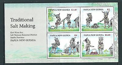 Papua New Guinea 2017 Traditional Salt Making Sheetlet Of 4 Unmounted Mint, Mnh