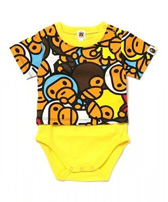 A BATHING APE ALL BABY MILO MUL LAYERED BODY SUIT Baby Maternity Wear From Japan