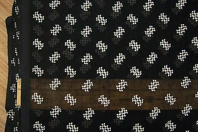 Vtg 40's Chenille Tufted Dots Squares Sheer Dress Fabric Dolls