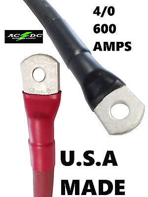 4/0 AWG GAUGE Copper Battery Cable Power Wire Car, Marine, Inverter, RV, Solar