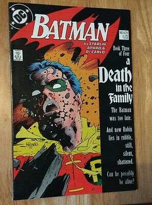 Batman #428 A Death in the Family Part 3 DC Comics