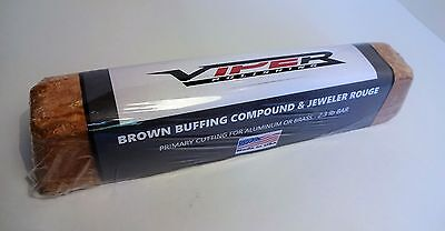 1 Brown Rouge Polishing Buffing Compound 2 Lb Brick 32 Oz  Made In Usa - Tripoli