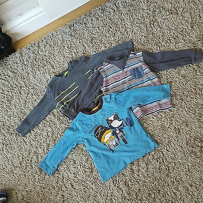 boys long sleeve t shirts size 9-12 months