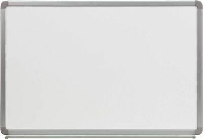 NEW 4' W x 3' H PORCELAIN MAGNETIC WHITEBOARD MARKER BOARD DRY ERASE WITH TRAY