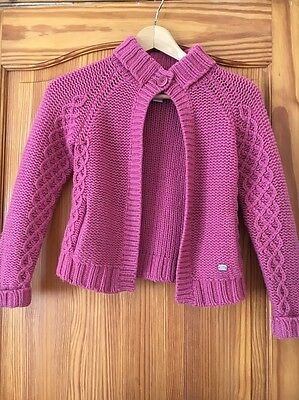Girls Ted Baker  Jacket Cardigan Age 8 Cable Knits