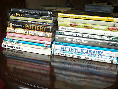 job lot of 20 books pottery and sculpture studio COLLECTION ONLY MACCLESFIELD