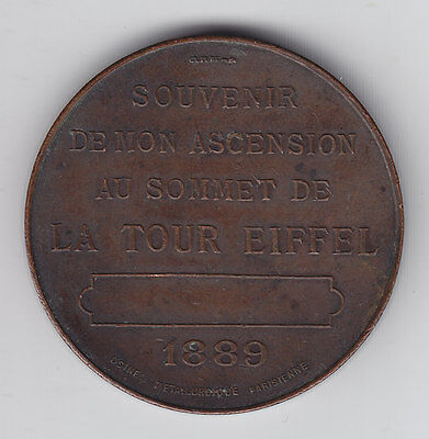 1889 French Medal to the Completion of the Eiffel Tower - The Tallest Structure