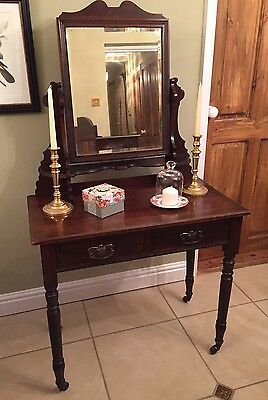 Walnut Dressing Table, Vintage Antique Bedroom Furniture