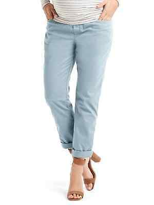 New Gap Maternity Girlfriend Chino SIZE 4 pacific mist  Reg $54.95 213816