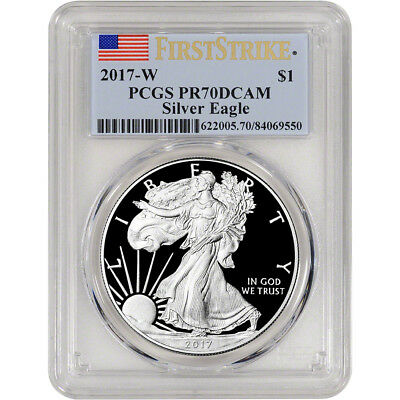 2017-W American Silver Eagle Proof - PCGS PR70 DCAM - First Strike