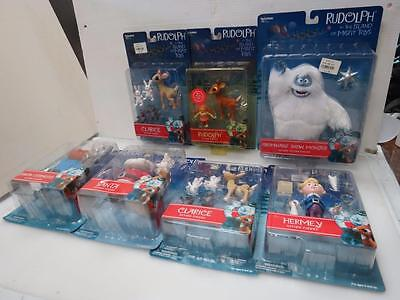 7pc 2001 Action Figure Rudolph and The island of Misfit Toys NEW Sealed   23502