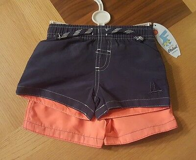 2 pack of baby boys swimming shorts age 3-6 months