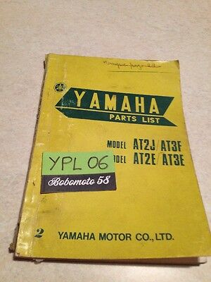 Yamaha parts list 125 AT2  AT3  catalogue pièces détachées AT2J AT2E AT3F AT3E