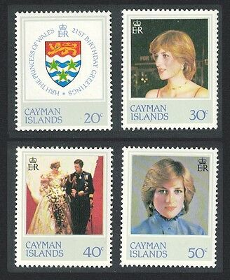 Cayman Is. 21st Birthday of Diana Princess of Wales 4v SG#549/52